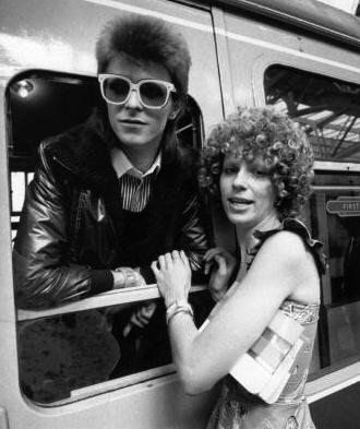 David and Angie in 1973. Photo: Getty