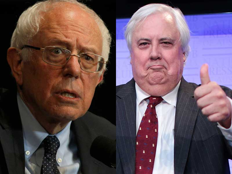 bernie Sanders Clive Palmer