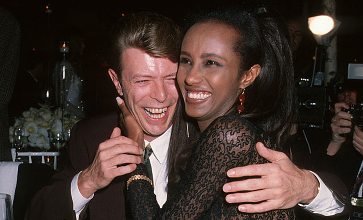 Bowie and Iman shortly after meeting in 1990. Photo: Getty