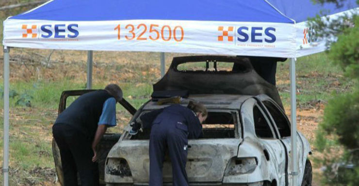 The car was found at nearby Myrtleford.