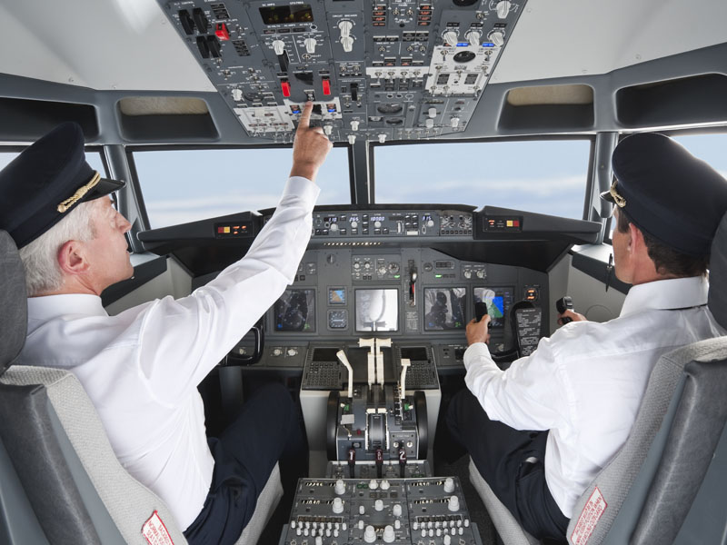 Airline pilots carry high levels of stress in protecting lives.