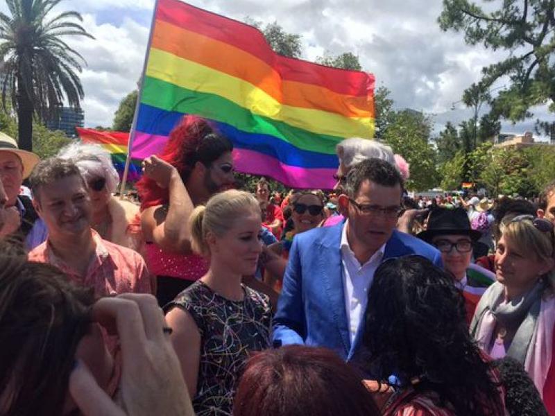 Daniel Andrews gay pride march