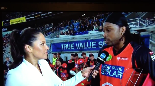 Gayle has since been fined $10,000 for the interview with McLauchlin.