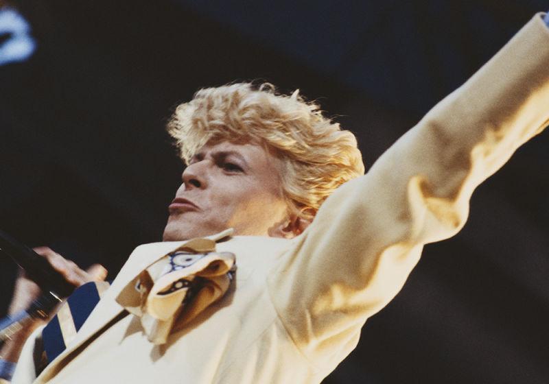Performing in 1983.