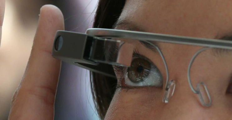 Google Glass allows users to access e-mail messages on its eye-level screen.