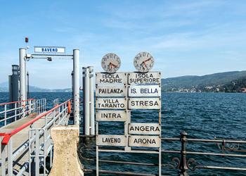 italian ferry sign
