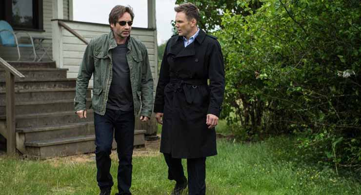 David Duchovny returns as Agent Mulder, while newcomer Joel Mchale stars as