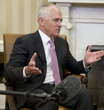 Mr Turnbull reassured business leaders that volatility brought opportunity.