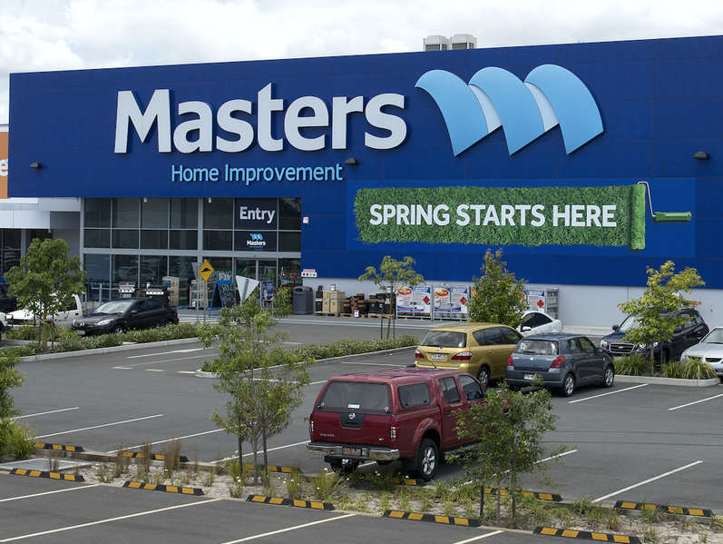 Masters hardware store has failed to make money for Woolies.