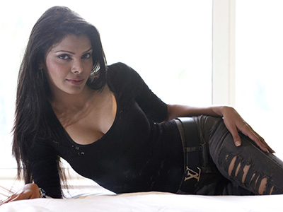 """""""MUMBAI, INDIA - JULY 17: Indian Actress Sherlyn Chopra pose for the photograph on July 17, 2012 in Mumbai, India. (Photo by Satish Bate/Hindustan Times via Getty Images)"""""""