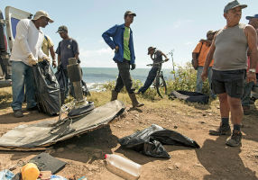 Wreckage from MH370 was found on Reunion Island last year. Photo: EPA