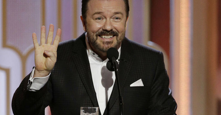 ricky Gervais golden globes getty