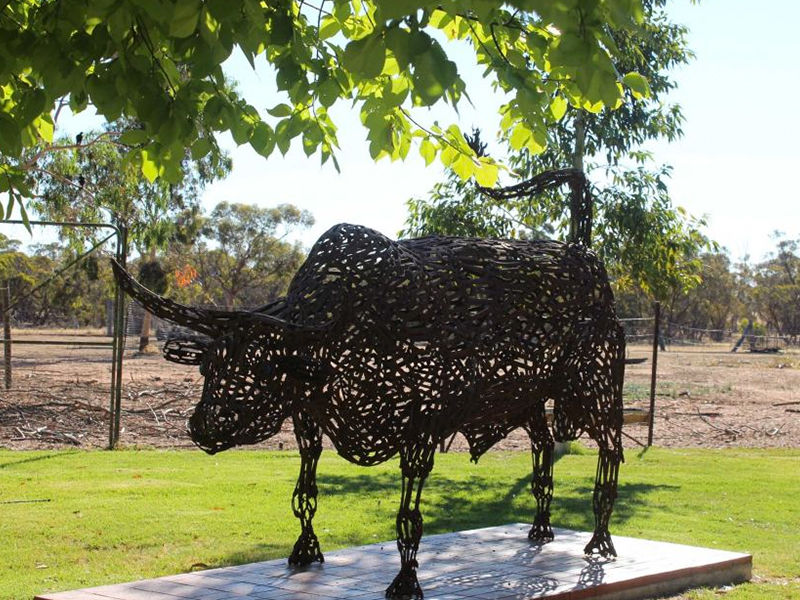 The sculptures are proving a big drawcard for the tiny farming community. Photo: Emily Stewart
