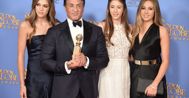 Sylvester Stallone daughters getty