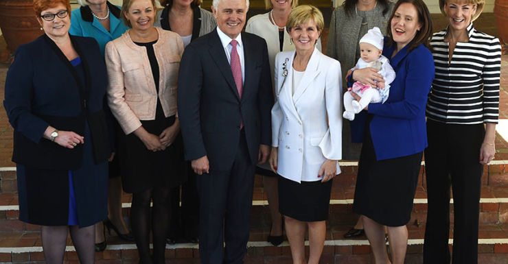 Malcolm Turnbull government women Getty