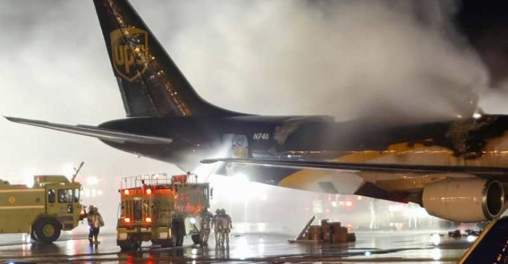 ups plane fire