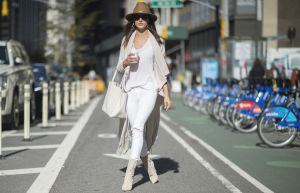 White jeans Alessandra Ambrosio Getty