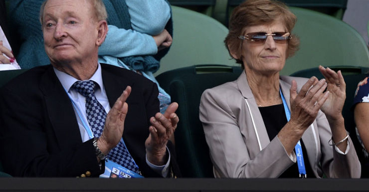 Rod Laver and TA board member Janet Young.