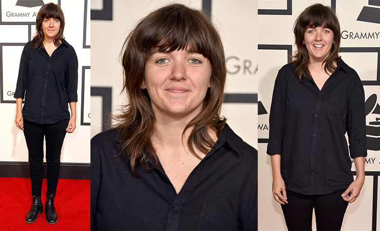 Courtney Barnett didn't pull out the glad rags for her first Grammys appearance. Photo: Getty