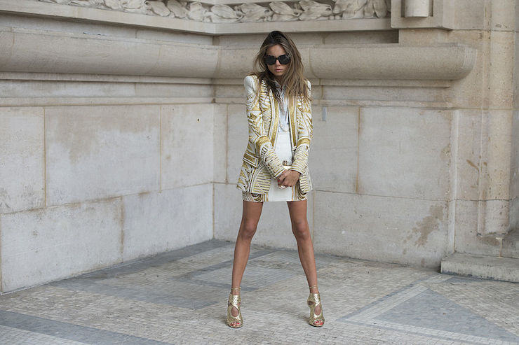 Balmain's dramatic shoulder pads and embellished clothing were expensive and short-lived. Photo: Getty