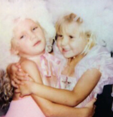 Swift also posted this picture of her and Maack as young kids. Photo: Instagram