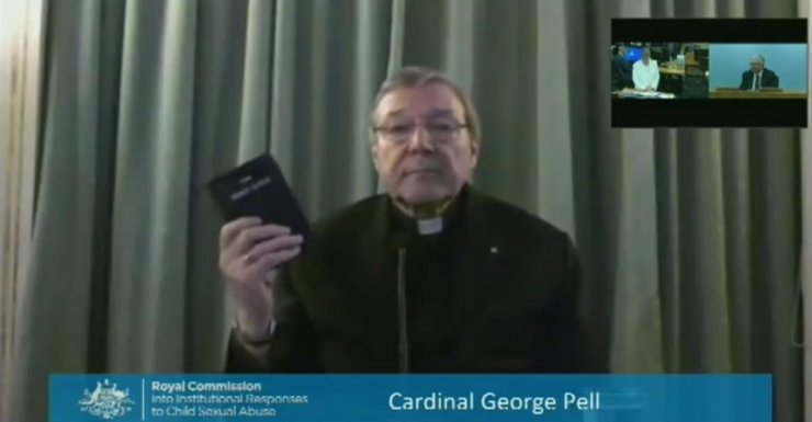 George Pell gives evidence