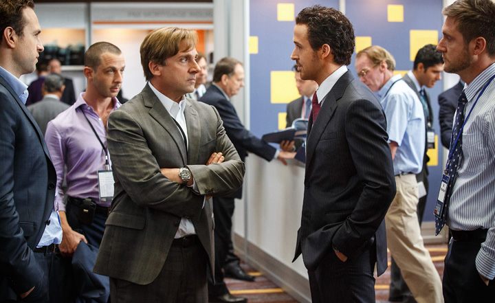 Ensemble comedy The Big Short details the beginning of the 2008 financial crisis.