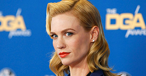 CENTURY CITY, CA - FEBRUARY 07: Actress January Jones attends the 67th Annual Directors Guild Of America Awards at the Hyatt Regency Century Plaza on February 7, 2015 in Century City, California. (Photo by David Buchan/Getty Images)