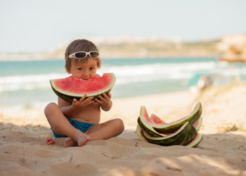 boy watermelon getty