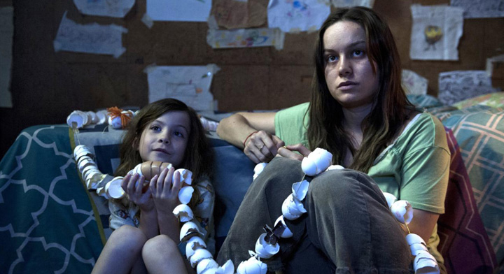 Brie Larson played a woman trapped by a rapist for five years in Room.