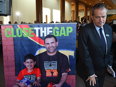 Federal Leader of the Opposition Bill Shorten at the Close the Gap, 10th Anniversary Parliamentary Breakfast at Parliament House in Canberra on Wednesday, Feb. 10, 2016. (AAP Image/Mick Tsikas) NO ARCHIVING