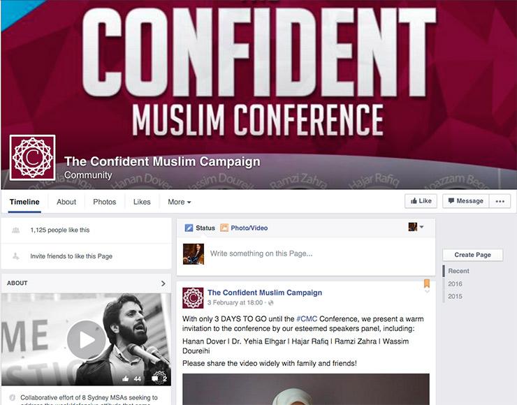 The confident muslim facebook