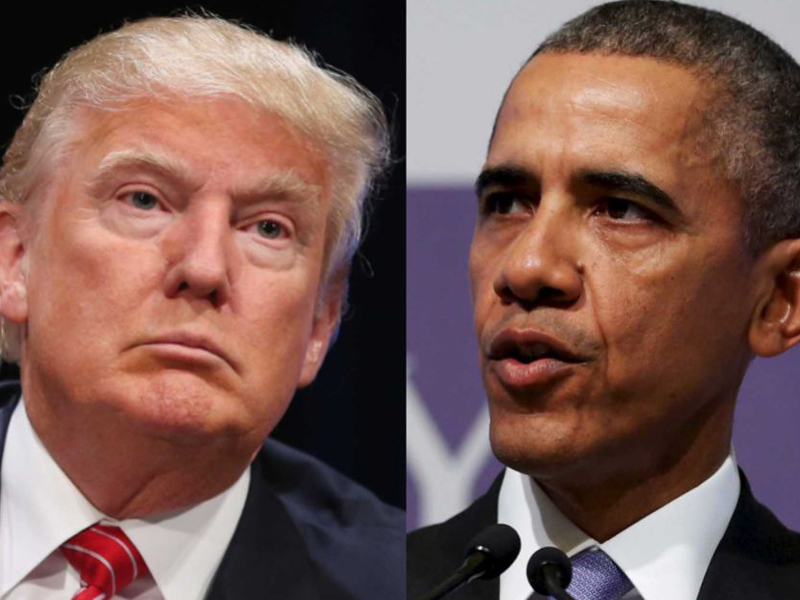 Barack Obama does not back Donald Trump.