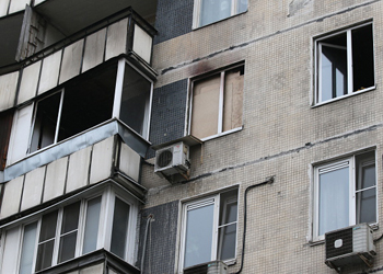 fire damaged apartment Russia