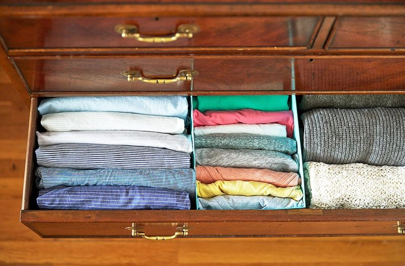 Clothing is more visible and easier to reach when stacked this way. Photo: YouTube