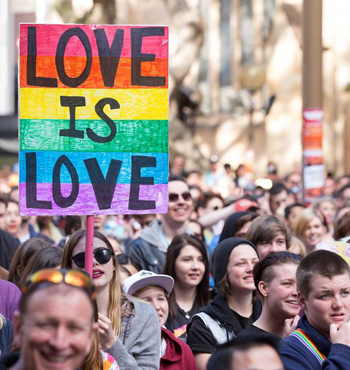 The Australian Marriage Equality organisation wants both sides of the debate to be able to engage in respectful campaigns.