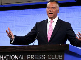 Mr Grant addresses the National Press Club.