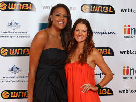 Liz Cambage and Alice Kunek