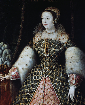 UNSPECIFIED - CIRCA 2003: Portrait of Catherine de Medici (Florence, 1519-the Chateau de Blois, 1589), queen consort of King Henry II of Valois (1519-1559), King of France. Florence, Galleria Degli Uffizi (Uffizi Gallery) (Photo by DeAgostini/Getty Images)