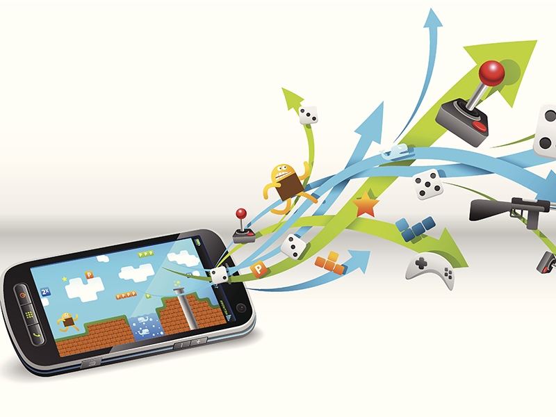 Gaming in smart phone mobile gaming video games