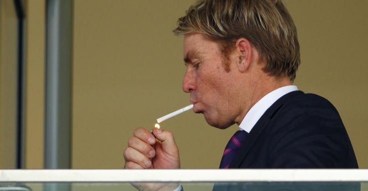 shane Warne smoking
