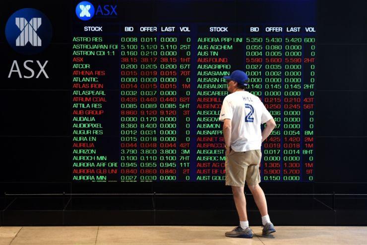 The stock market fell sharply.