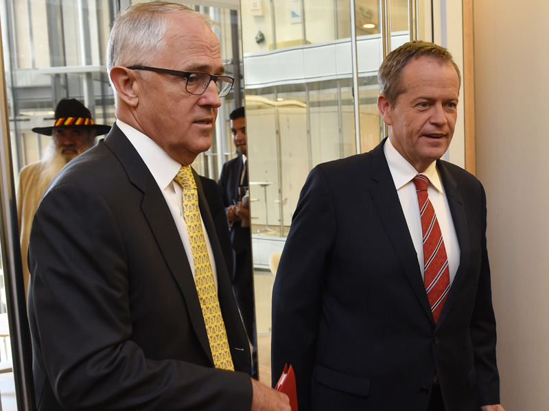 Malcolm Turnbull Bill Shorten