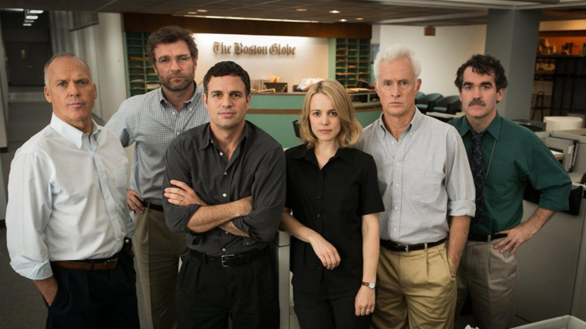 Spotlight tells the story of the Boston Globe investigative journalists who uncovered abuse in the Catholic Church.