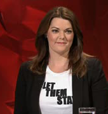 Ms Hanson-Young in support of asylum seekers.