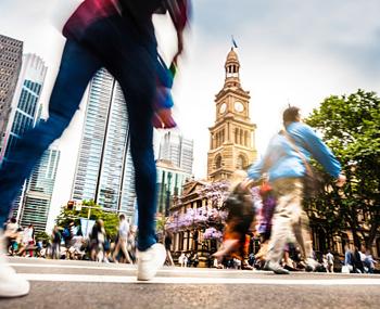 sydney crowds street