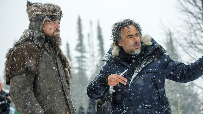 DiCaprio and negotiate the extreme conditions in Canada. Photo: Copyright © 2015 Twentieth Century Fox Film Corporation. All rights reserved. THE REVENANT Motion Picture Copyright © 2015 Regency Entertainment (USA), Inc. and Monarchy Enterprises S.a.r.l. All rights reserved.Not for sale or duplication.