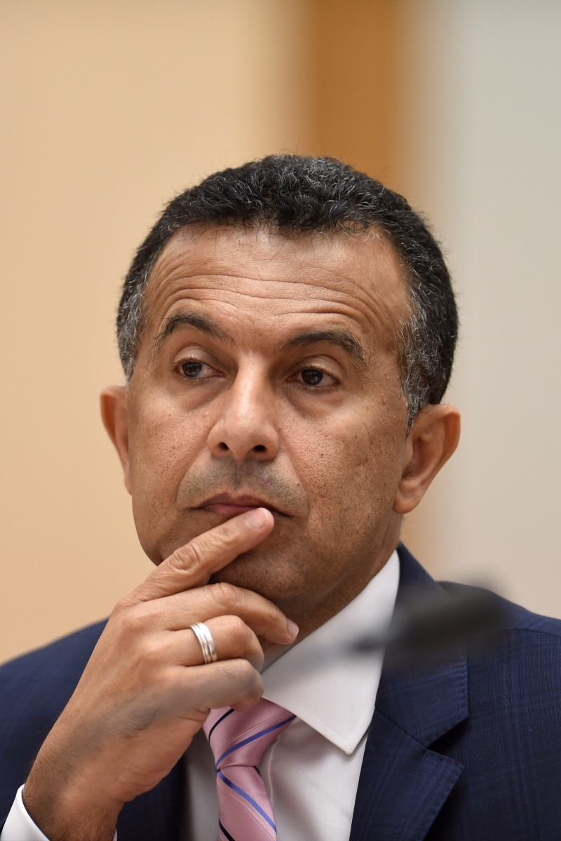 SBS managing director Michael Ebeid contemplates a Stoke v Bournemouth blockbuster on a Saturday. Photo: AAP