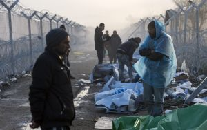 Migrants have camped Photo: ABC