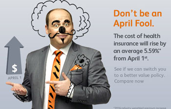 iSelect tells visitors to its website not to an April fool and use them to compare. Unfortunately, the opposite my be true. Photo: iSelect